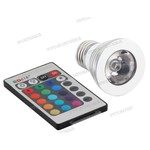 E27 / E14 RGB 3W LED met Afstandsbediening