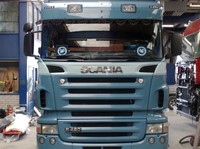 Scania R-series Highline sun visor type 1b