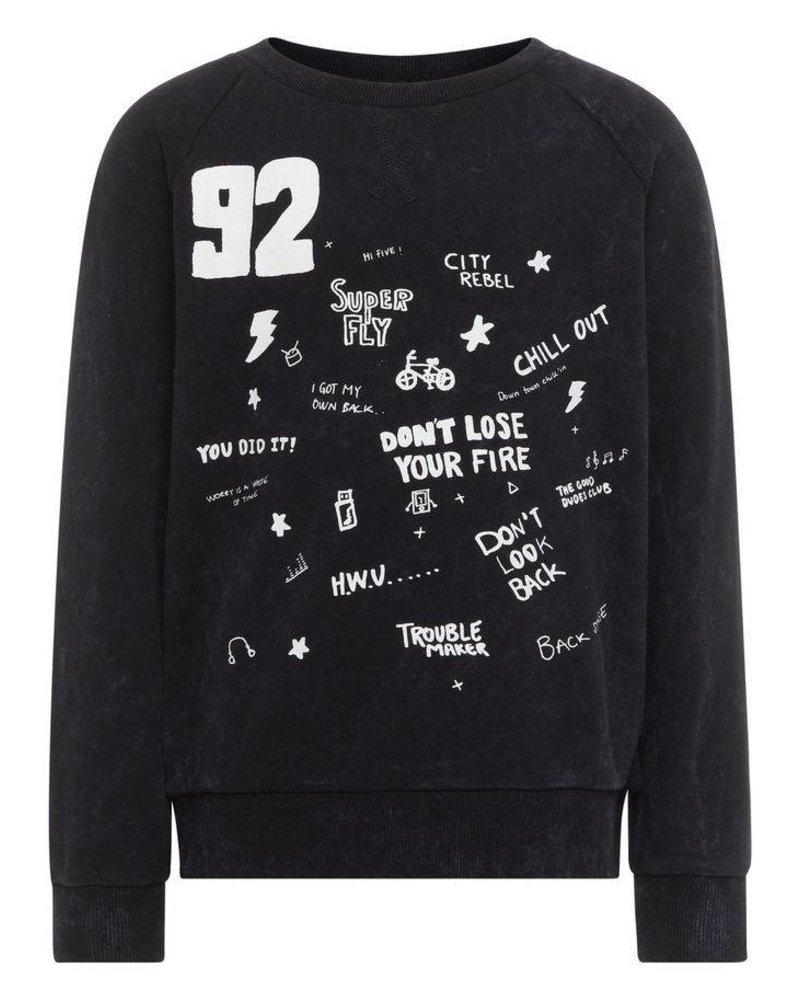 Name It Nit Henri Sweater - zwart