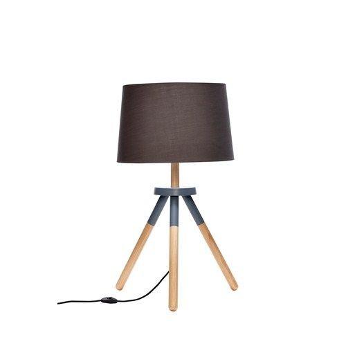 Hübsch Interior Zwarte Houten Staande Lamp