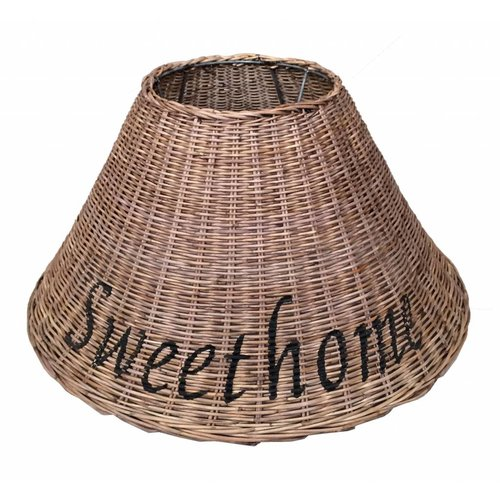 Sweet Living Rieten Lampenkap Bruin - Sweet Home