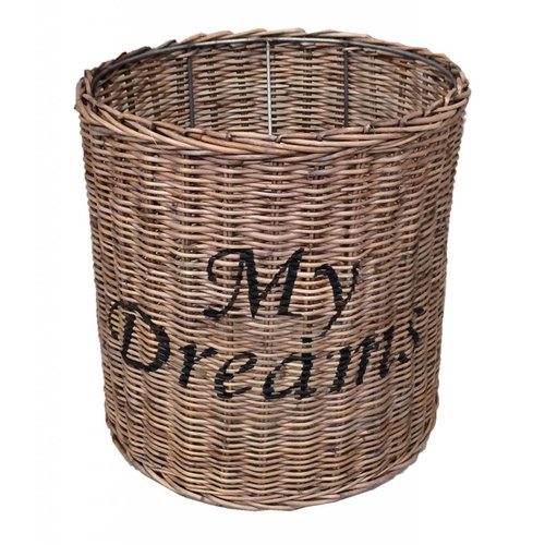 Sweet Living Ronde Rieten Hanglampenkap My Dreams - 35x26 cm