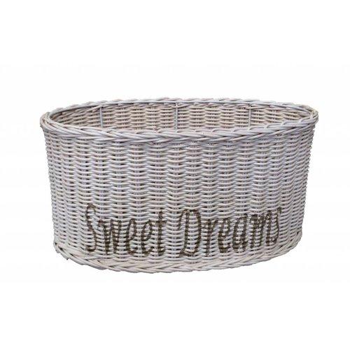 Sweet Living Ovalen Witte Rieten Lampenkap 36 cm - Sweet Dreams