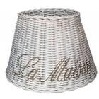 Sweet Living Witte Rieten Lampenkap La Maison - 27 cm