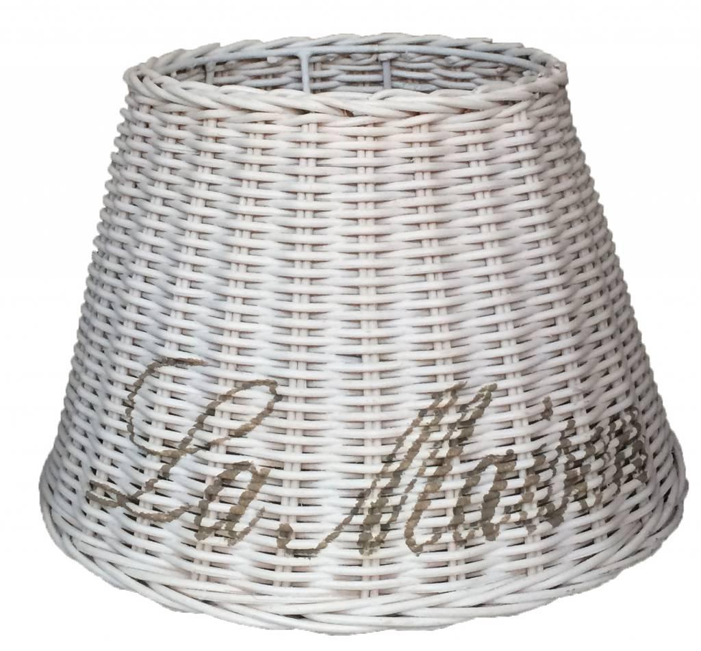 Sweet Living Witte Rieten Lampenkap La Maison - 27 cm - Lamp ...