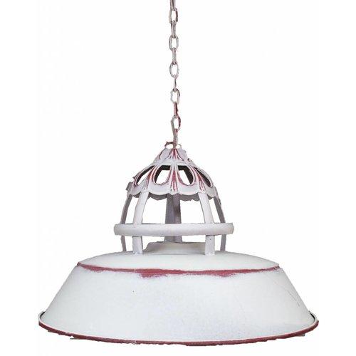 Sweet Living Witte Metalen Hanglamp - Ø36x23cm