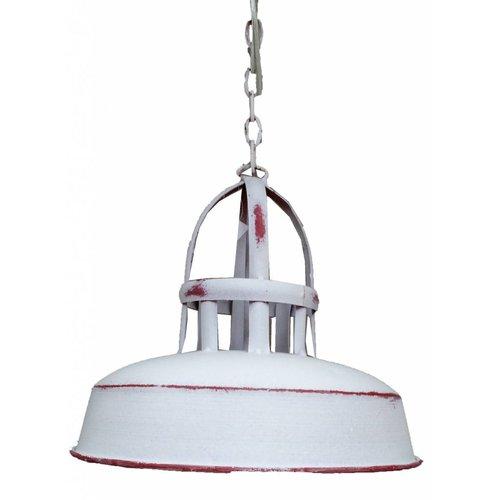 Sweet Living Witte Metalen Hanglamp - Ø25 x H21 cm