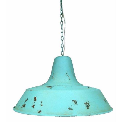 Sweet Living Hanglamp Metaal/Blauw - Ø 45 cm x H 24 cm