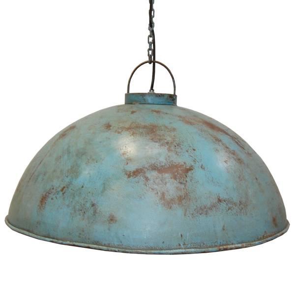 Blauwe Metalen Hanglamp