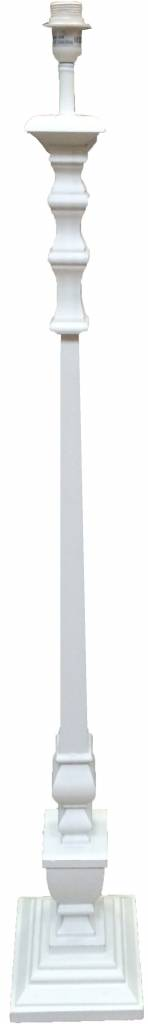 Witte Houten Lampenvoet