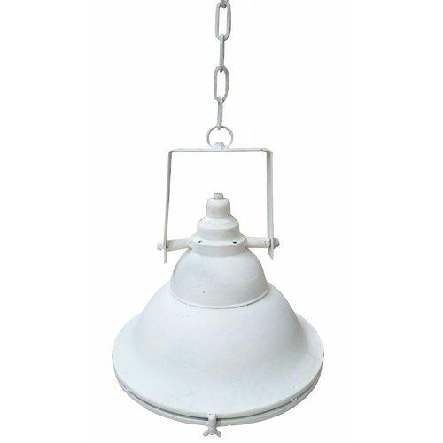 Sweet Living Witte Metalen Hanglamp Met Glasplaat - 36 cm