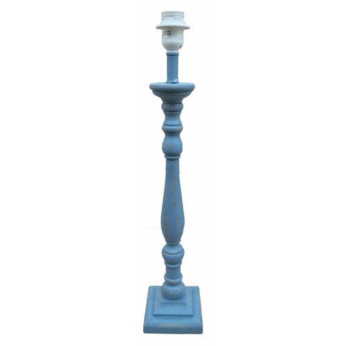 Sweet Living Lampenvoet Hout/Antiekblauw - 61 cm
