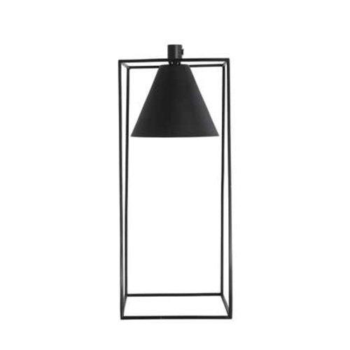 House Doctor Zwarte tafellamp Kubix - H42 cm