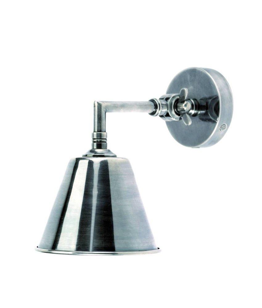 Nordal Wandlamp Antiek Zilver - H18 cm