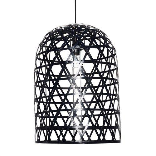 Zwarte Hanglamp Bamboe - Hübsch Interior