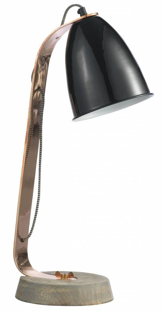 Tafellamp Zwart/Koper - Madam Stoltz