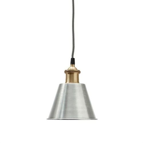 Hübsch Interior Metalen Hanglamp Zilver - 19 cm