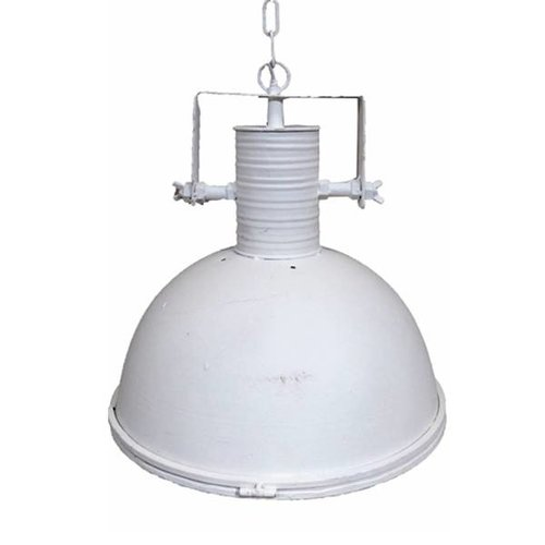 Sweet Living Grote Witte Metalen Hanglamp - Glasplaat