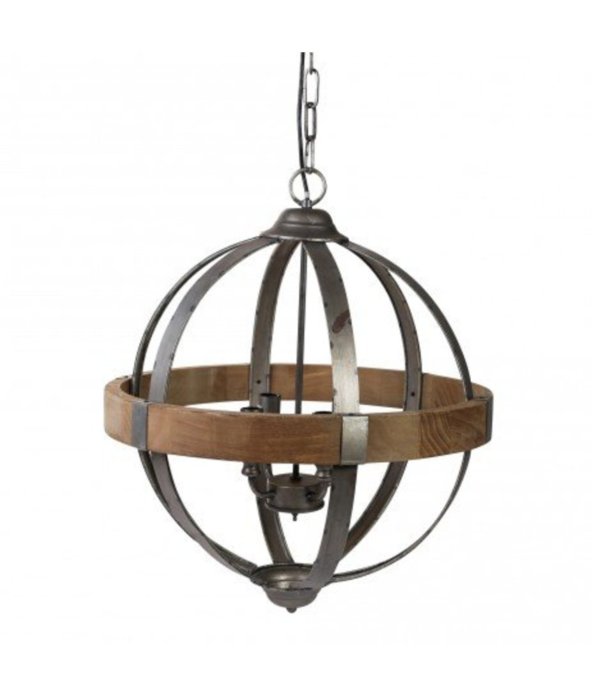 PTMD Grey Hanglamp Denver - 50x50 cm