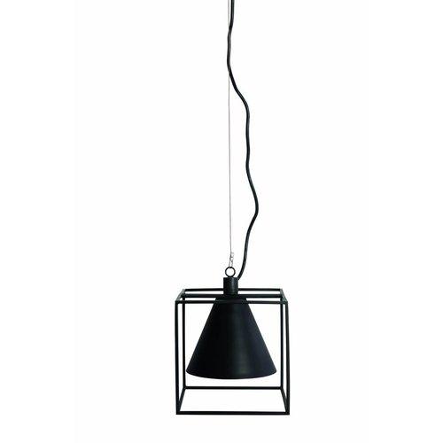 House Doctor Zwarte Hanglamp Kubix 18x18x18 cm