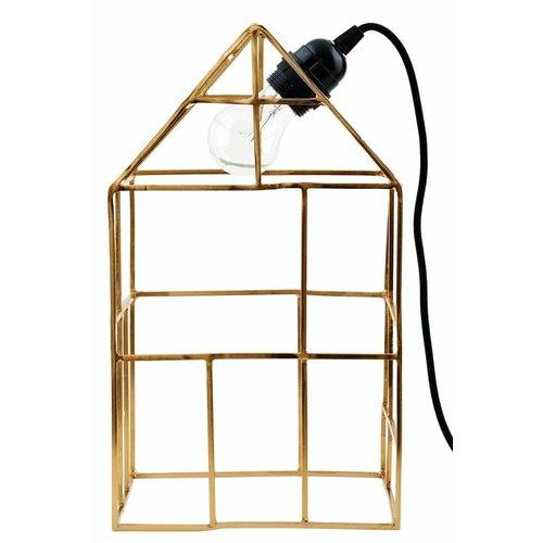 House Doctor Messing Tafellamp Huis - H35 cm