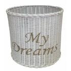 Sweet Living Witte Rieten Hanglampenkap My Dreams - 32xH30 cm
