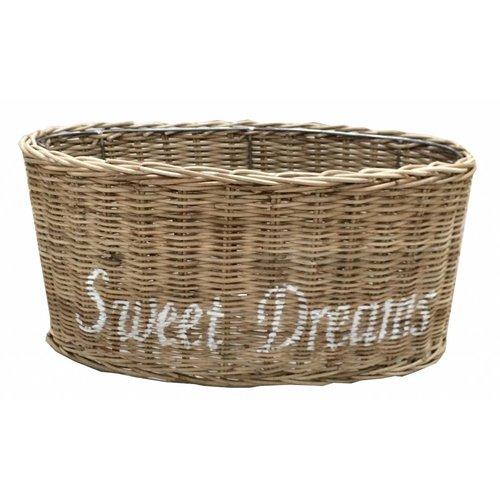 Sweet Living Rieten Lampenkap Sweet Dreams wit - 36 cm