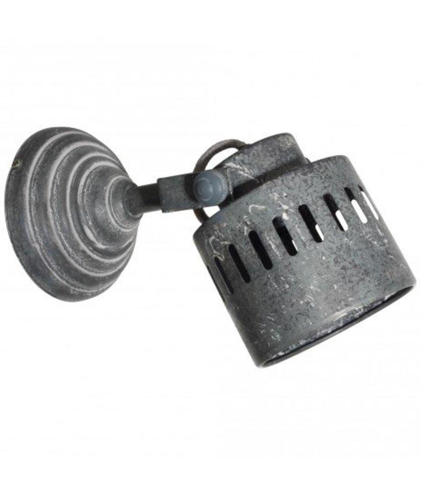PTMD Wandlamp zink - 13x20x17 cm