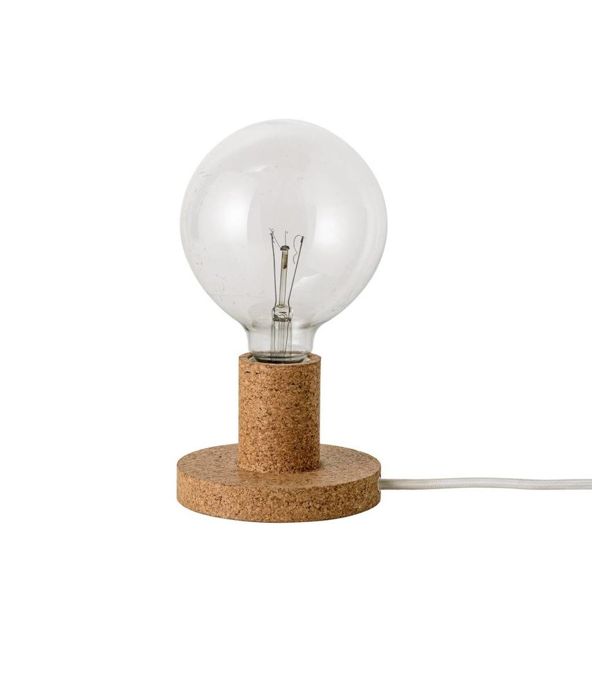 Bloomingville Tafellamp kurk - Ø12,5x6,5 cm