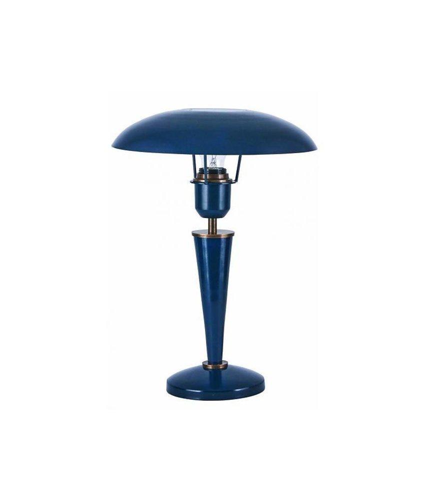 House Doctor Tafellamp Opal Donkerblauw - h34 cm