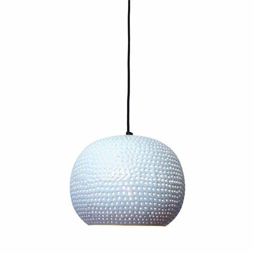Sweet Living Hanglamp Spike Bol Wit - 27x21 cm