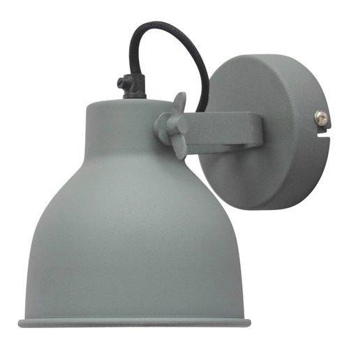 Sweet Living Wandlamp Industrial vintage grey - 14x16x19 cm