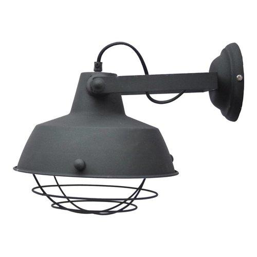 Sweet Living Wandlamp Prison vintage black - 27x25x35 cm