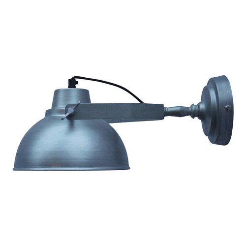 Sweet Living Wandlamp Urban antiek zink - 20x15x36 cm