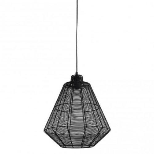 PTMD Hanglamp Josh Zwart - 40x40x44 cm