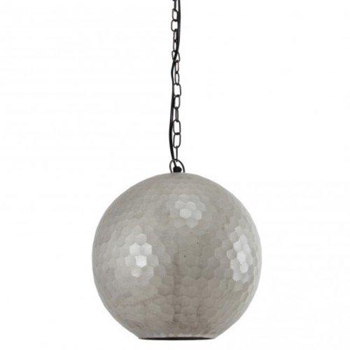 PTMD Zilveren Hanglamp Honeycomb - 25x25 cm