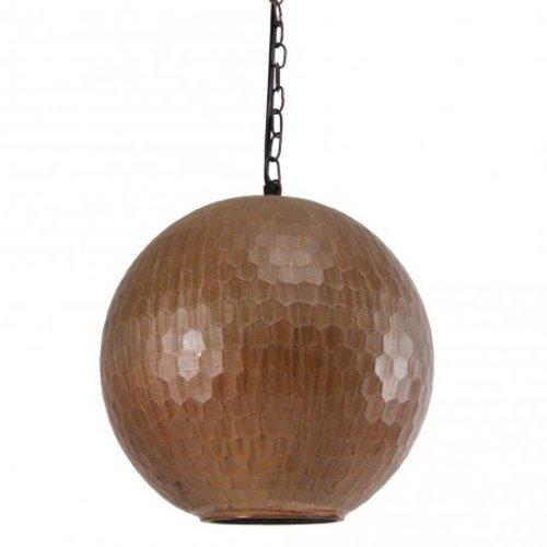 PTMD Koperen Hanglamp Honeycomb - 25x25 cm