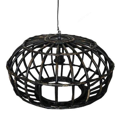 Sweet Living Rotan Hanglamp Blackwash - 50xH30 cm