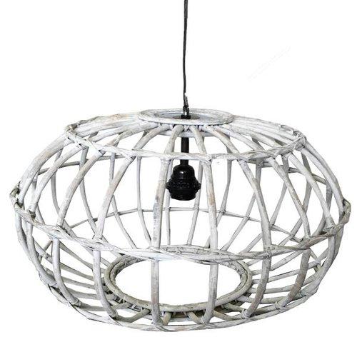 Sweet Living Rotan Hanglamp Whitewash - 50xH30 cm