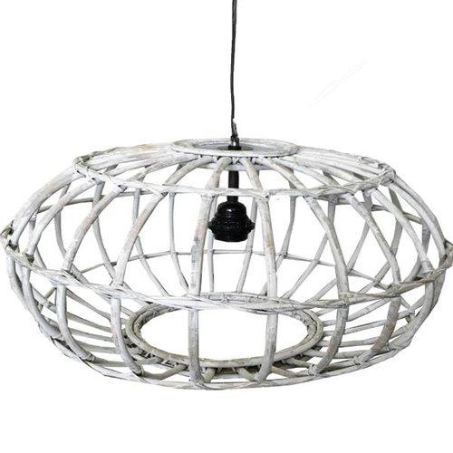 Sweet Living Rotan Hanglamp Whitewash - 60xH30 cm