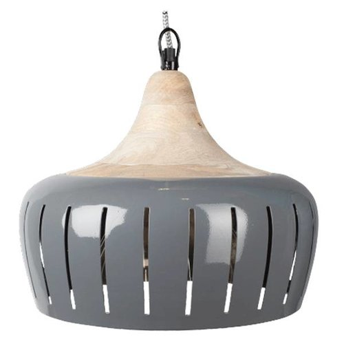 Braxton Home Collection Grijze hanglamp Jamie - 30 cm