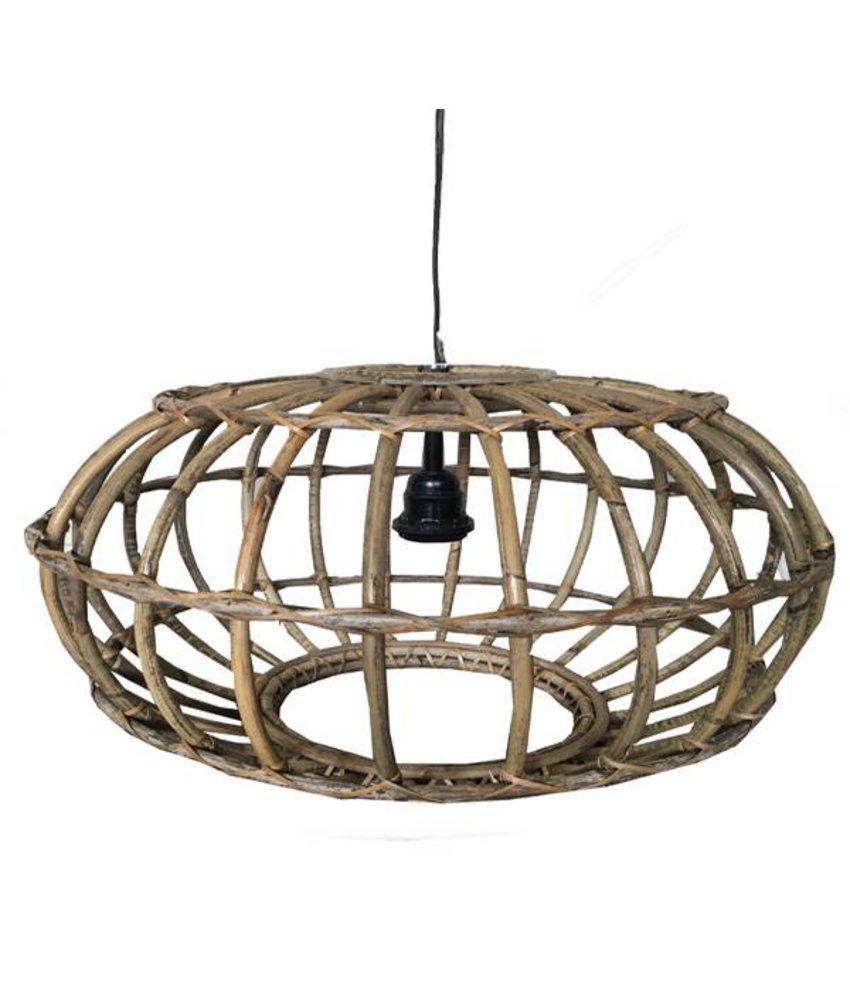 Sweet Living Rotan Hanglamp Greywash - 60xH30 cm