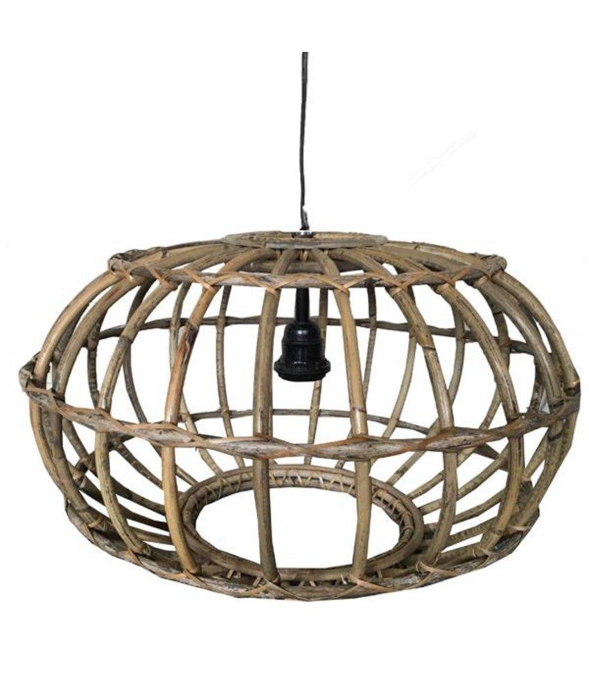 Sweet Living Rotan Hanglamp Greywash - 50xH30 cm