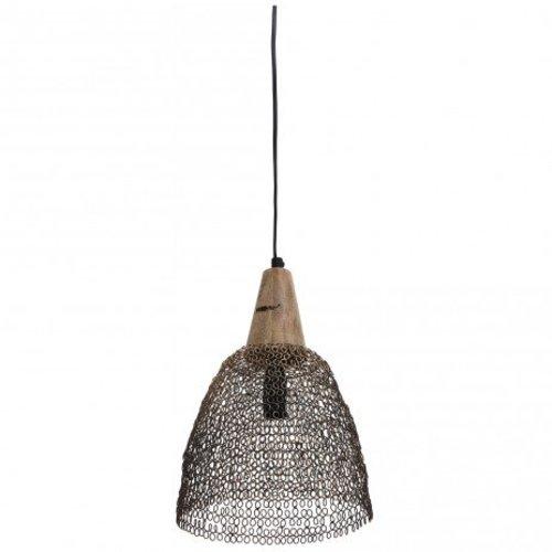 PTMD Hanglamp Tinn ijzer - 20x20x30 cm