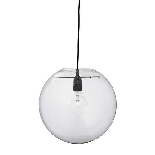 Bloomingville Hanglamp Glas Transparant - Ø35cm