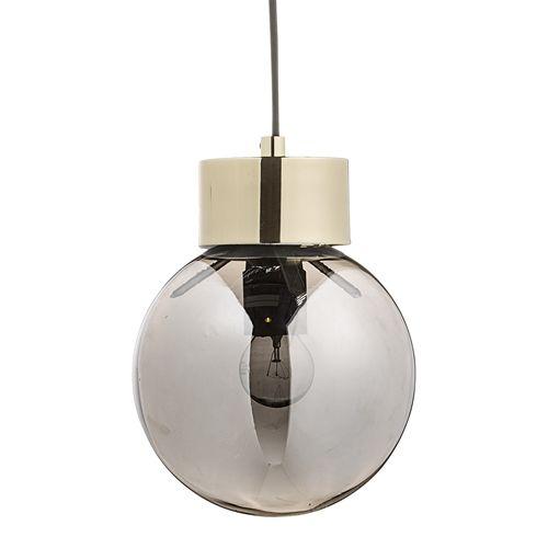 Bloomingville Hanglamp Goud-Zilver Glas Ø18x22 cm