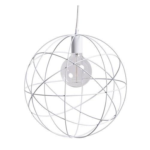 Bloomingville Hanglamp Wit/Metaal - Ø40 cm