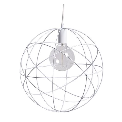 Bloomingville Hanglamp Wit-Metaal Ø40 cm