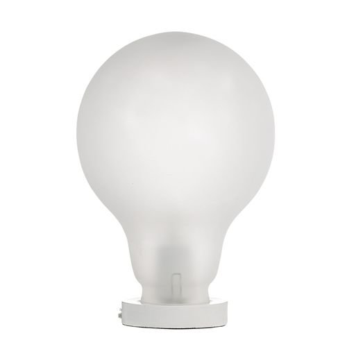 Bloomingville Tafellamp matglas wit - Ø20x30 cm