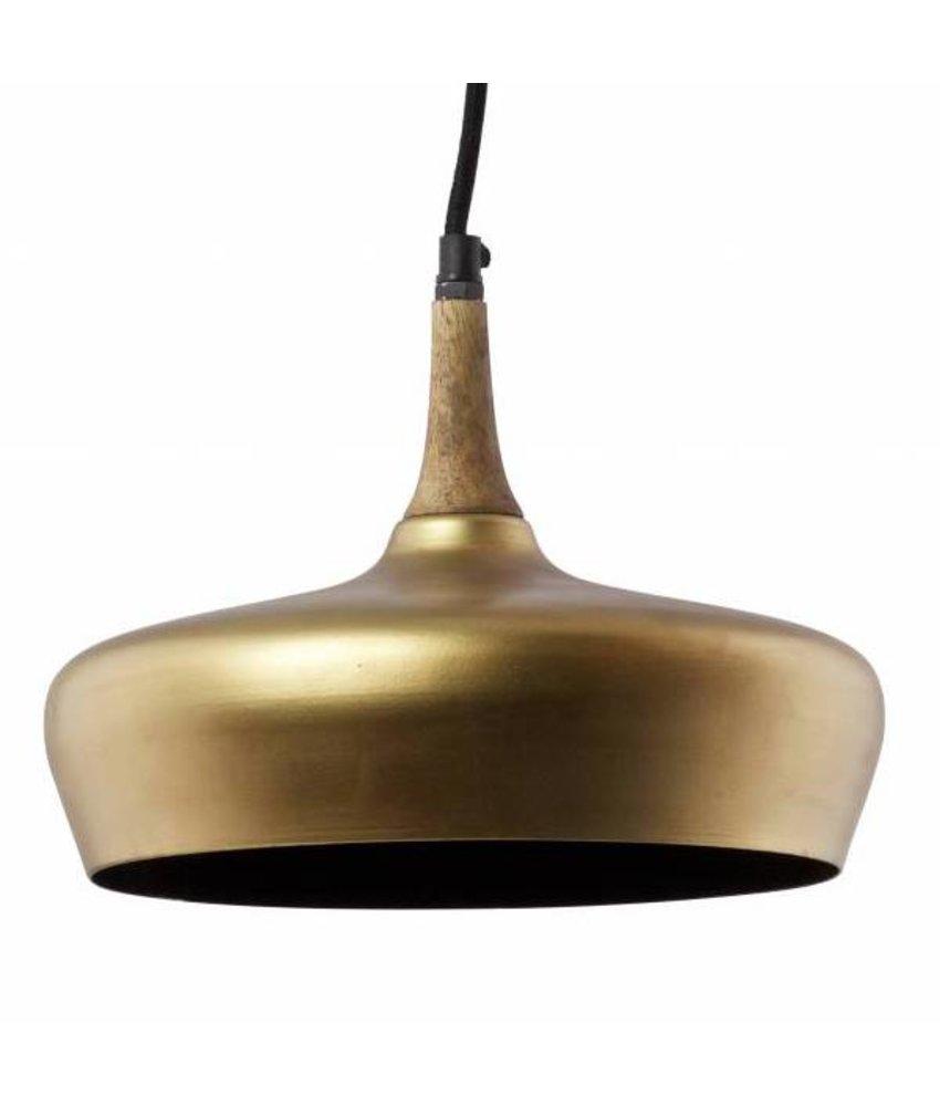 Hanglamp Sparkle mat goud - 18x26x23 cm